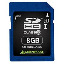 グリーンハウス SDHCカード 8GB UHS-I Class10 GH-SDHCUA8G 1枚