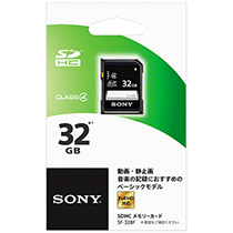 ソニー SDHCメモリーカードベーシックモデル 32GB Class4 SF-32BF 1枚
