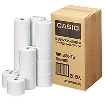 カシオ 電子レジスター用 ロールペーパー 紙幅58mm 感熱紙タイプ TRP-5880-TW 1パック(20個)