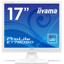 iiyama ProLite 17型スクエア液晶ディスプレイ ノングレア ピュアホワイト E1780SD-W1 1台