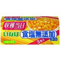いなば食品 食塩無添加コーン 200g 1パック(3缶)