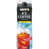 ドトールコーヒー アイスコーヒー 無糖 1L 紙パック(口栓付) 1ケース(6本)