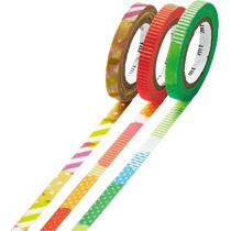 カモ井加工紙 マスキングテープ mt slim deco E 3種セット 6mm×10m MTSLIM20 1セット