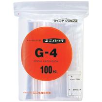 セイニチ チャック付袋 ユニパック ヨコ140×タテ200×厚み0.04mm G-4 1パック(100枚)