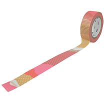 カモ井加工紙 マスキングテープ mt DECO つぎはぎ・F 15mm×10m MT01D116 1巻